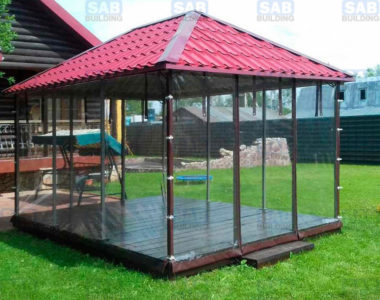 Прозрачные шторы для беседок и террас