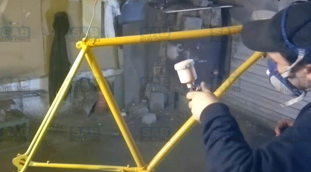 Порошковая покраска велосипедной рамы