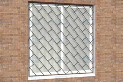 Решетки на окна Диагональная кладка