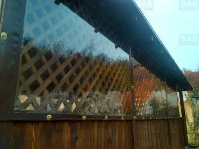 Поворотная скоба для мягких окон