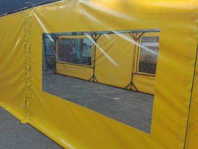 Прозрачные окна для шатра