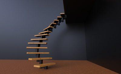 Сборная металлическая лестница