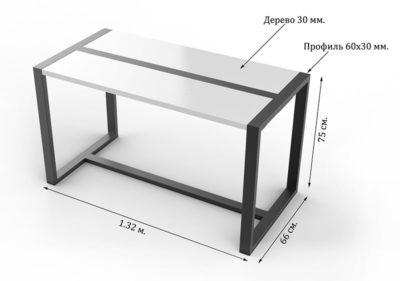 Стол лофт технические характеристики