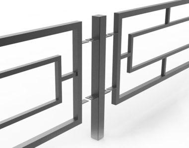 Секционная структура металлического ограждения