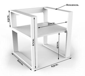 Технические характеристики стульев в стиле лофт