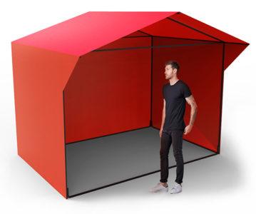 Палатка из тента 3х2 м.