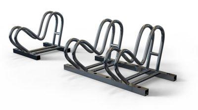 Секционная велопарковка из нержавеющей стали