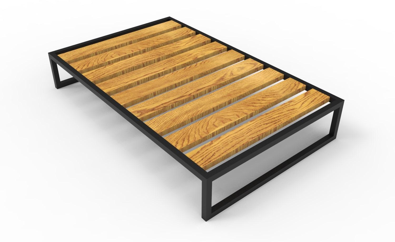 Двухместная кровать в стиле лофт