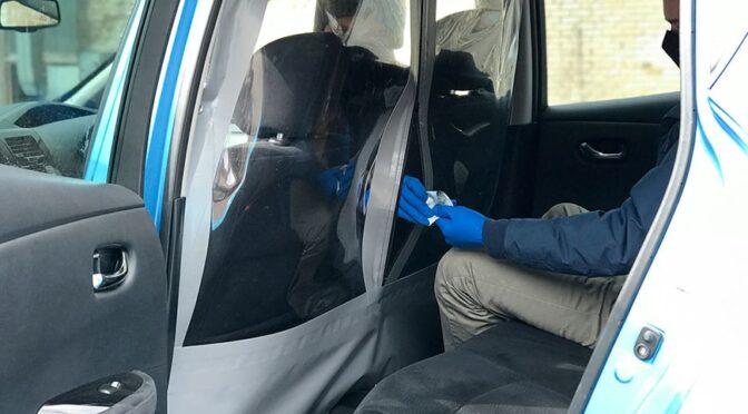 Защитный экран для такси из ПВХ