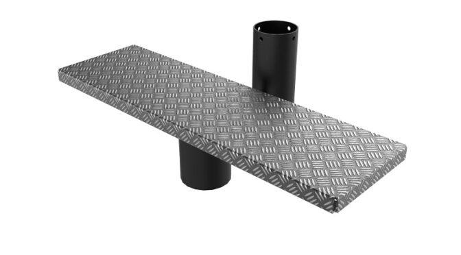 Модульные лестницы с металлической ступенькой