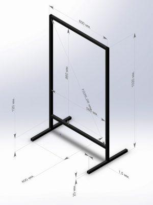 Точные размеры штендера