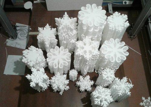 Снежинки из пенопласта цена