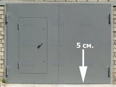 5 сантиметровый отступ ворот для гаража