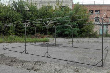 Металлическая конструкция палатки