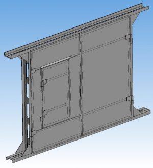 3D макет гаражных ворот