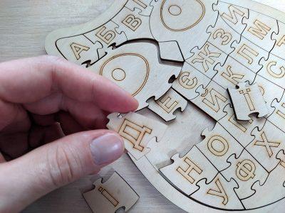 Пазл-алфавит из фанеры