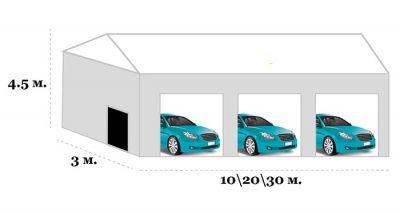 Тентовый гараж для СТО