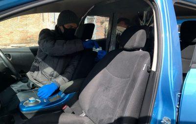 Защитная пленка от коронавируса для такси