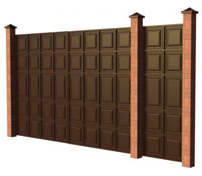Филенчатые ворота с калиткой