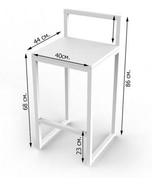 Барные стулья лофт чертеж