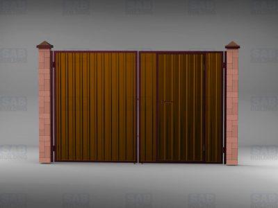 Ворота для забора из профнастила