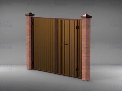 Купить ворота с калиткой из профнастила