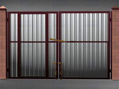 Ворота и калитка из профнастила цена