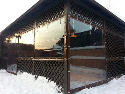 Прозрачные шторы ПВХ для кафе и ресторанов